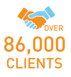 over 86000 clients